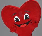mascotte coeur saint valentin